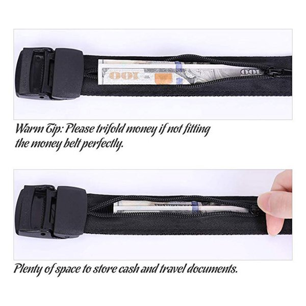 Luxury Men Women Leather Waist Chain Belt Travel Security Money Belt Hidden Money Pocket Cashsafe Anti-Theft Wallet
