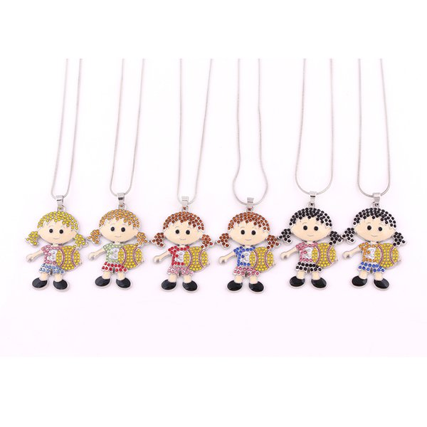 Huilin wholesale multicolor snack chain black necklaces and cute softball girl necklace with jewelry for girlfriend for gift