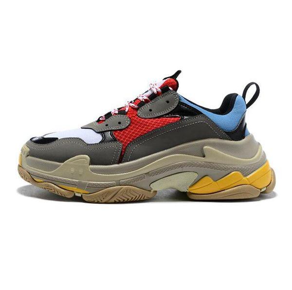 Moda masculina e feminina das mulheres Paris geox Triplo-S Casual Pai Mens Sapatos de Grife para As Mulheres Bege Barato Preto Sports Formadores Chaussures35
