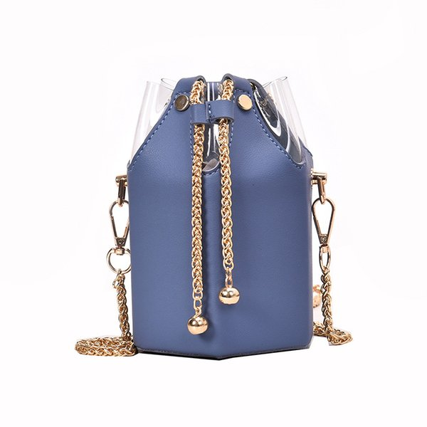 high quality Handbag Cross-body bag with one shoulder chain casual Bucket bag Free shipping