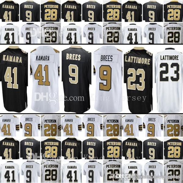 9 Drew Brees New Orleans Jersey 28 Adrian Peterson Saints 41 Alvin Kamara  23 Marshon Lattimore 13 Michael Thomas Jerseys 2cde77f50