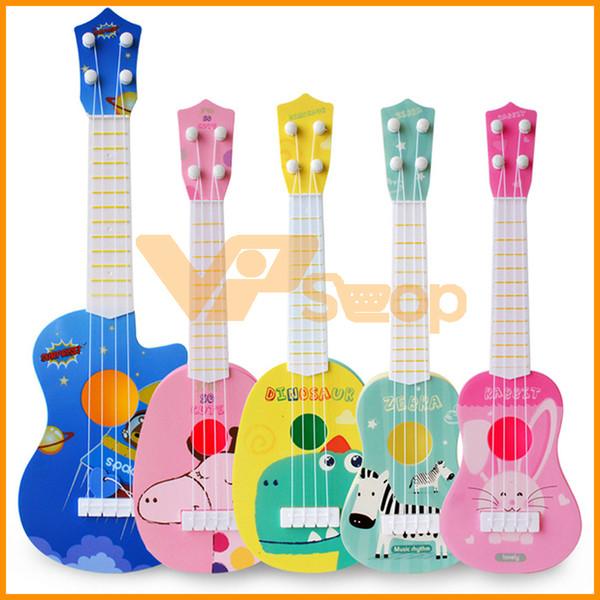 Mini Ukulele Chitarra di simulazione per bambini strumenti musicali di musica del giocattolo di formazione Giocattoli di sviluppo per i regali dei bambini della festa di compleanno di Natale