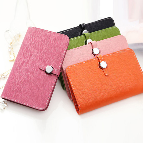 famous designer wallet ladies short style european and american fashion classic wallet leather wallet card holder 2020