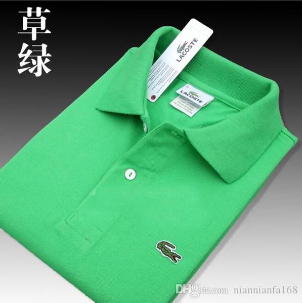 Dropship di alta qualità Coccodrilli Polo Shirt Men Solid pantaloncini in cotone polo estive polo Homme T-shirt Mens Polo Camicie Poloshirt SP01 F50