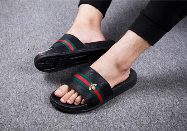 mens shoes Men's Flats 2018 Brand Shoes italian men shoesS Men Sandals Casual Fashion Men Sandals Super Star Slippers size:36-45