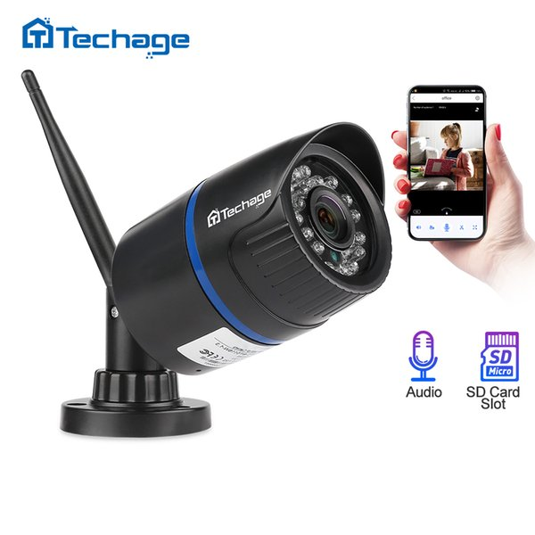 wireless ip Techage 1080 Wifi IP Camera SD Card Audio Record Wireless Camera IR Night Vision 2MP P2P Onvif CCTV Outdoor Video Surveillance