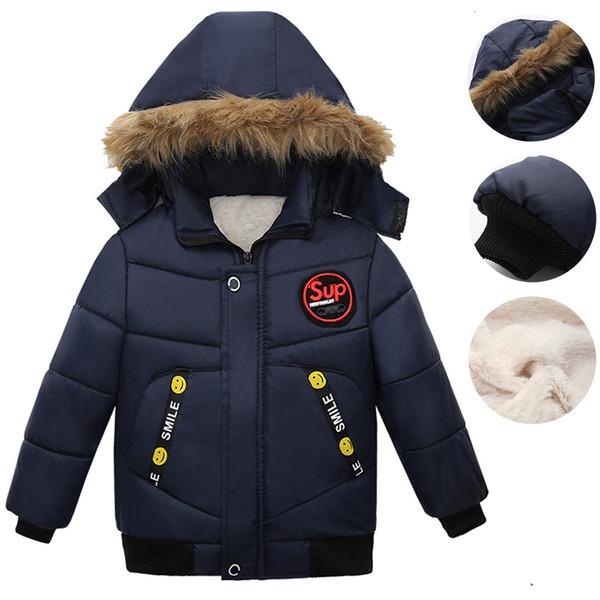 Bébé garçon Veste 2019 Veste d'hiver d'automne pour petits garçons enfants manteau à capuchon chaud de vêtements d'extérieur pour vêtements Boy