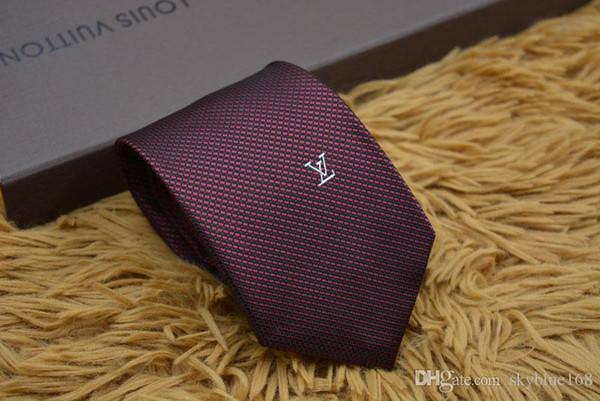 Новые стили моды для мужчин Галстуки Silk Tie мужские шеи галстуки ручной работы Свадьба письмо Галстук Италия 3 Стиль деловых связей нашивки 990