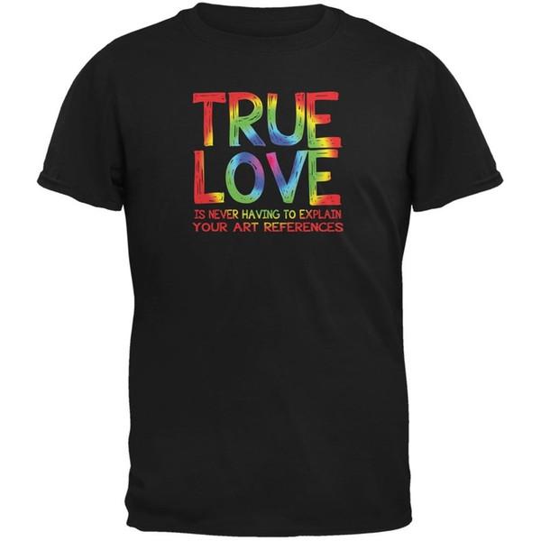 Valentines Day True Love Art Black Adult T-Shirt Size S-3XL suit hat pink t-shirt