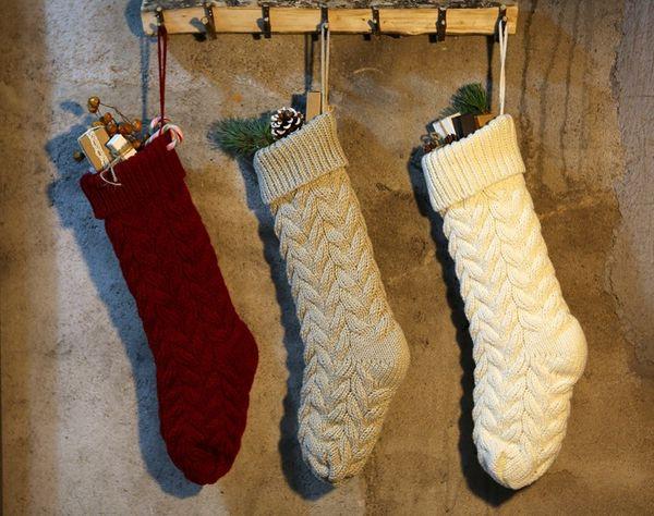 top popular New Personalized knit Christmas Stocking items Blank pet stocks Christmas stockings Holiday Stocks Family Stockings indoor decoration DO1413 2019