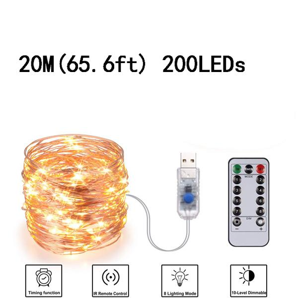 USB 20M (65.6ft) 200LED