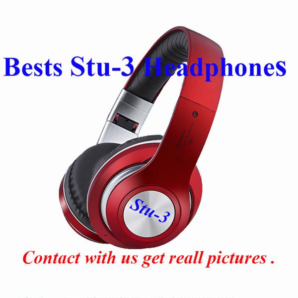 Auriculares bluetooth inalámbricos Stu-3 de alta calidad de origen Sonidos estéreo plegables Auriculares inalámbricos para juegos Auriculares inalámbricos para Android ISO con micrófono TF