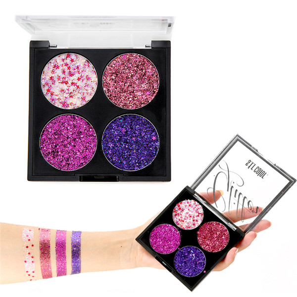 Glitter Shimmer Eyeshadow Palette Big Sequins Eye Shadow Pallete Body Festival Shiny  Pigmento Korean Cosmetics