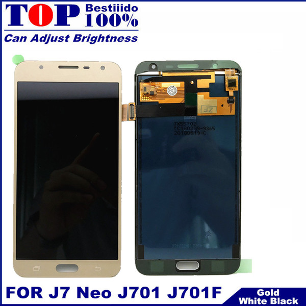 LCD Display For Samsung Galaxy J7 Neo 2017 J701 Touch Screen Digitizer Assembly LCD Frame J7 Neo J701 J701F J701M J701F/DS J701H Ypf27-68