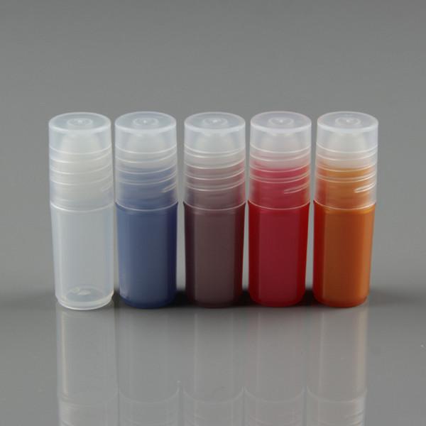 3ML Roll on Bottles for Essential Oils Empty Perfume Contenitori per tubi plastici lucidi per labbra in plastica PP