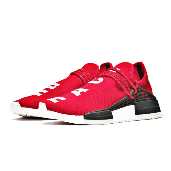 Orange red Human Race Hu trail williams men running shoes Nerd black cream mens trainer sports runner sneaker