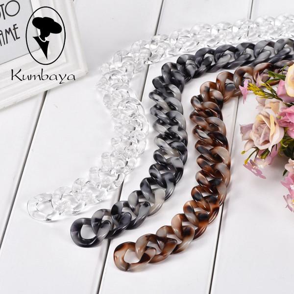 Schmuckzubehör Komponenten 1,0 Meter Acryl Halskette Stränge Teile Verknüpfte Tasche Ketten Frauen Schmuck DIY Zubehör Brille Ketten ...