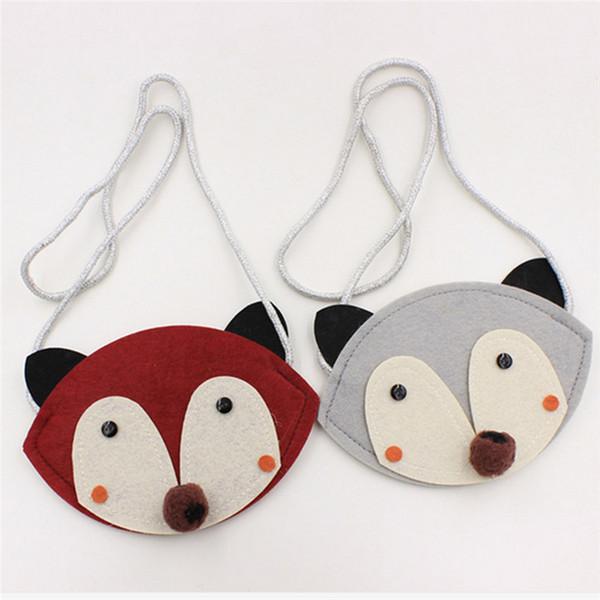 Tierform Kinder Umhängetasche Handarbeit Vlies Patch Kinder Handtasche Mini Münztüte Kleine Brieftasche Tasche Kindspielzeug