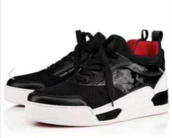 Имя Марка Дизайнер Повседневная обувь Человек с красной подошвой Кроссовки на пл
