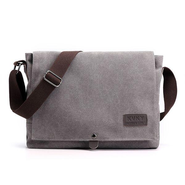 Cross Body Bag in Black Unisex Small Canvas Shoulder