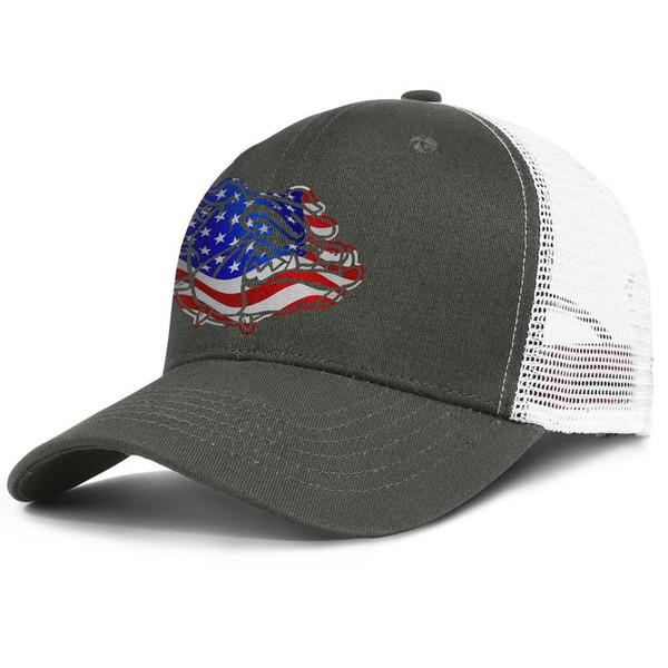 Mesh Trucker hats Men Women-Gonzaga Bulldogs Basketball USA flag logo designer cap snapback Adjustable Sun cap
