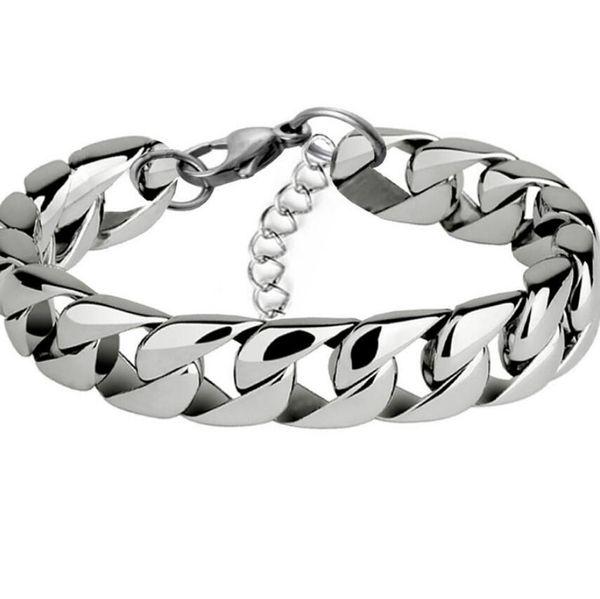 designer jewelry stainless steel bracelets planish 3.2mm chain titanium steel bracelets for men hot fashion