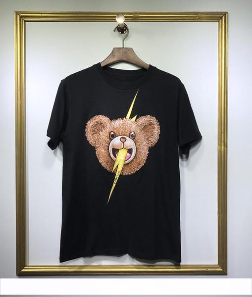 Frühling Sommer 2019 Luxus Europa Kanada Enlove House Bär Donner T-shirt Mode Männer Frauen T-shirt Kurzarm Casual Baumwolle T