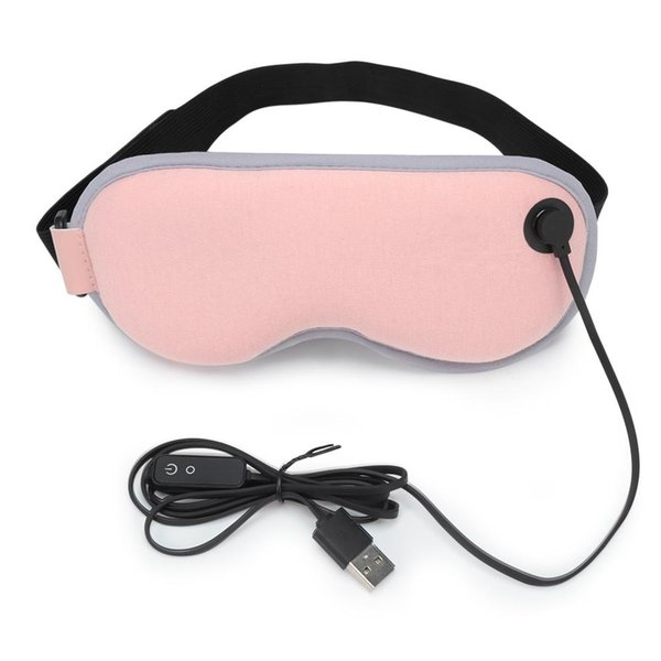 USB Steam Heating Eye Mask with Adjustable Temperature Eyeshade Hot Compress Cover Shade Eye Patch Travel Eye Mask Free Shipping BB
