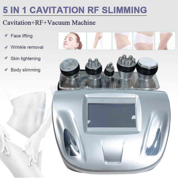 Cavitation ultrasonique multifonctionnelle amincissant la fréquence radio sixpolar rf de machine rf pour le visage et le corps deux poignées de vide