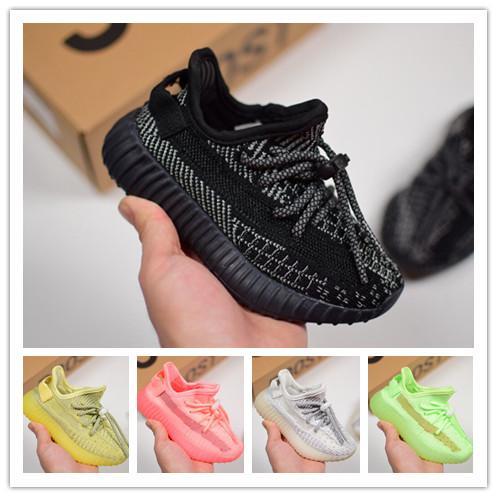 Marka s350 2.0 kanye west çocuklar koşu ayakkabıları statik susam pembe beluga 2 krem siyah gri kızlar zebra s350 v2 tasarımcı ayakkabı boys sneakers