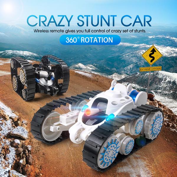 New cross-border children's remote control tank 360 flip deformation car boy toy tank l children's gift