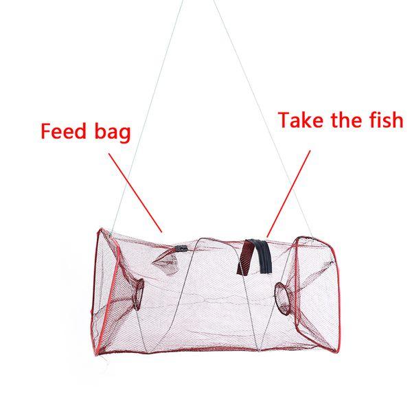 Folding Fishing Net Crab Fish Crawdad Shrimp Minnow Fishing Bait Trap Cast Dip Net Cage Mesh Trap Casting Network