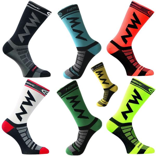 New Cycling Socks Men Sports Outdoor Black White Breathable Road Bikes Socks