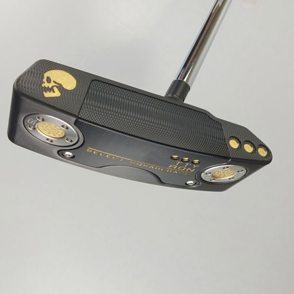 PG Golf putter SQ-BACK teschio dorato nero Golf club 32-36 pollici Club Golf Club Copricapo di alta qualità spedizione gratuita