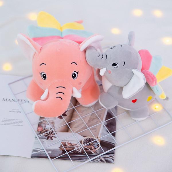 30CM Sleeping Elephant peluche Poupée Anime peluche éléphant de bande dessinée Animaux en peluche oreiller chiot Jouets Cadeaux de Noël pour les jouets pour enfants