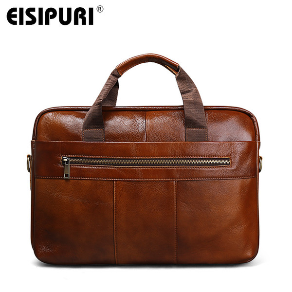 2018 New Men/'s Oil wax Leather Vintage Shoulder Bag  handbags handbag  Briefcase
