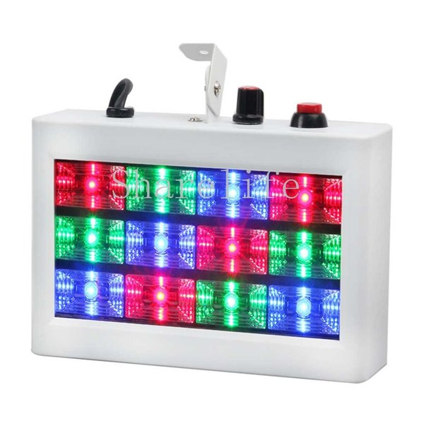 Sharelife Mini 12 RGB Color LED Sound Actived Strobe Light Flash Light Stroboscope Disco for Club Party Stage Lighting Effect