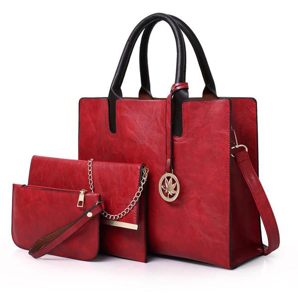 Designer Sacs à main en cuir Pu femmes Nouveau sacs fourre-tout dames sac à main Messenger Bag Sac Sac A Main Set 3Pcs