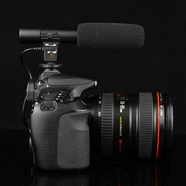 Video Microphone Interview Recording Vlog Mic for DSLR Camera Nikon Canon/Phones SGA998