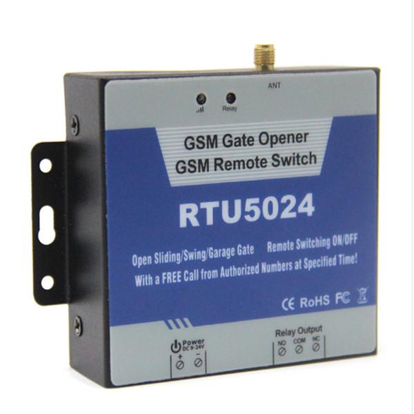 RTU5024 GSM Garage Balançoire porte coulissante porte Ouvre relais commutateur à distance contrôleur de serveur Ouvre-porte de contrôle d'accès
