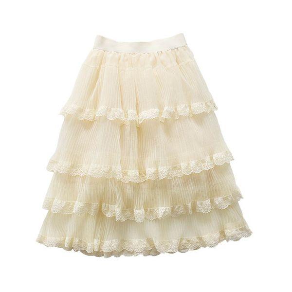 Boutique Girls Tutu Skirts lace chiffon Girls Skirts 2019 new Summer kids Tiered Skirts long Children Skirt princess girls dress A3937