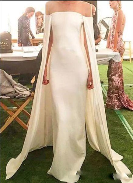 Sheer neck Long Evening Dresses with Wrap Mermaid Satin Floor Length Custom MAde Long Prom Dresses
