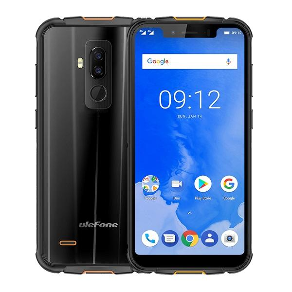 "5.85"" Notch Full Screen HD+ uleFone Armor 5 IP68 Waterproof 4G LTE Octa Core MTK6763 4GB 64GB Android 8.1 NFC GPS Wireless Charge Smartphone"