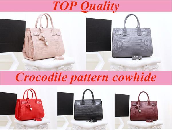 Neue Ankunfts-Frauen-Handtaschen-elegante Tote-Modedesigner-Krokoprägungrindleder Qualitäts-Schulter-Beutel Ursprüngliche lederne Qualitäts-Tasche