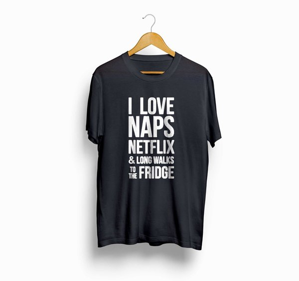 I Love Naps Frigo Funny Humor Moda Uomo Donna T-Shirt T Shirt Tees suit cappello rosa t-shirt