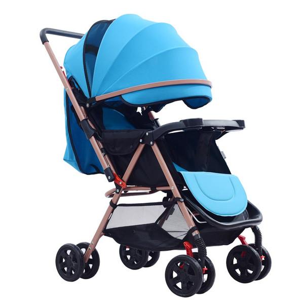 Passeggino I bambini possono sedersi e sdraiarsi Portatile pieghevole antiurto Baby Car Utilizzato in inverno e in estate