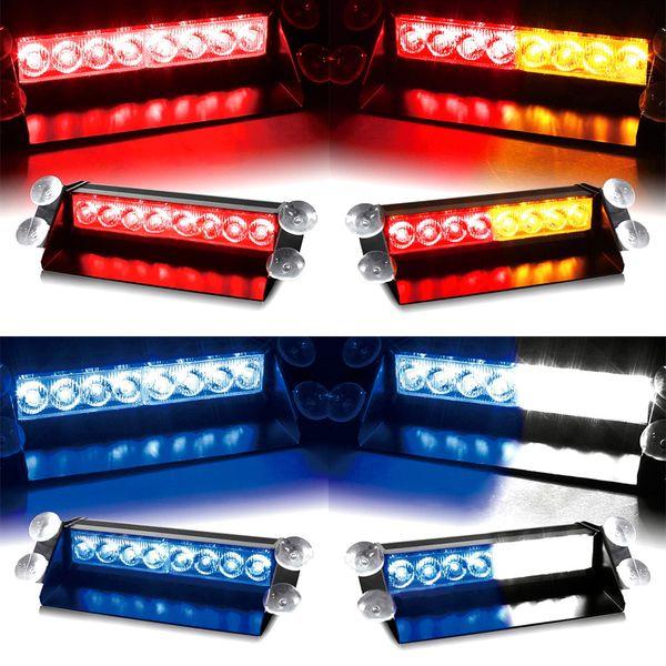Coche Led de emergencia luz de advertencia del flash del estroboscópico 12V 8 luces intermitentes llevadas rojo azul blanco verde luces de la policía Car styling