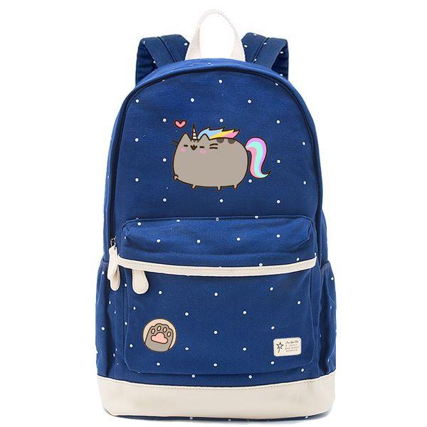 Karikatür tombul kedi Sırt Çantası İçin Gençler Kız tombul kedi Anaokulu Çantaları Çocuk Sırt Çocuk Okul Çantaları