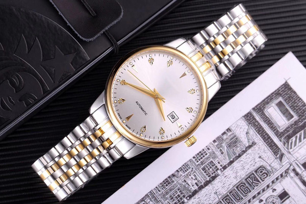 copy N40104 s-nol MEN 42mm LUXURY WATCHes automatic jewels sapphire glass WR 316l stainless steeL original buckle