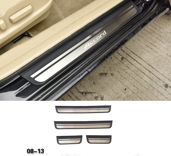 Stainless outer Door Sill plate Guard Protector Cover For Honda Accord 2008-2013